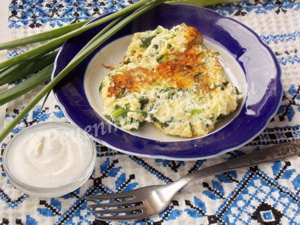 страва зі шпинату омлет