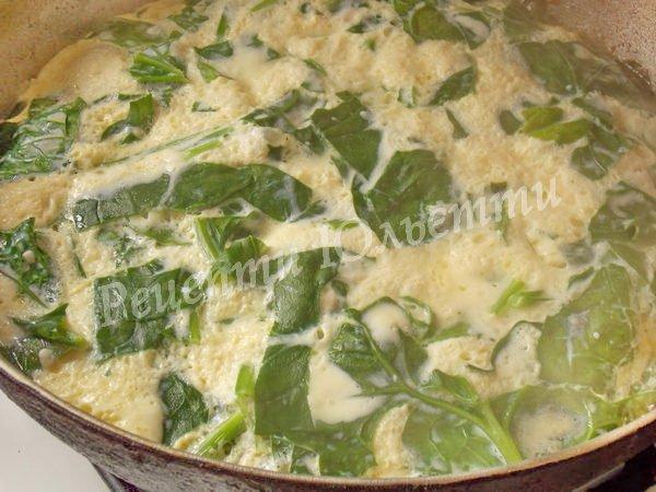 рецепт омлету зі шпинатом