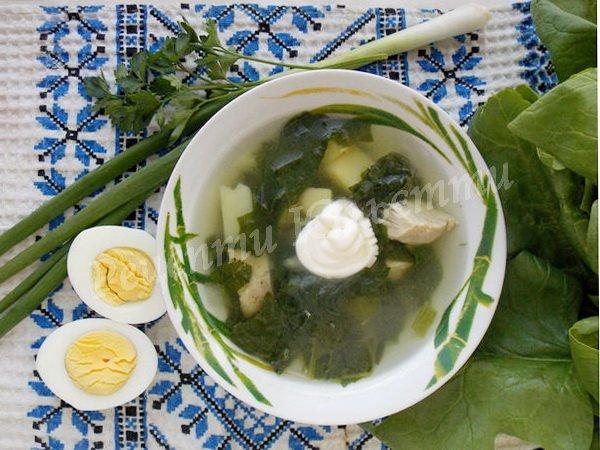 рецепт супу зі шпинатом
