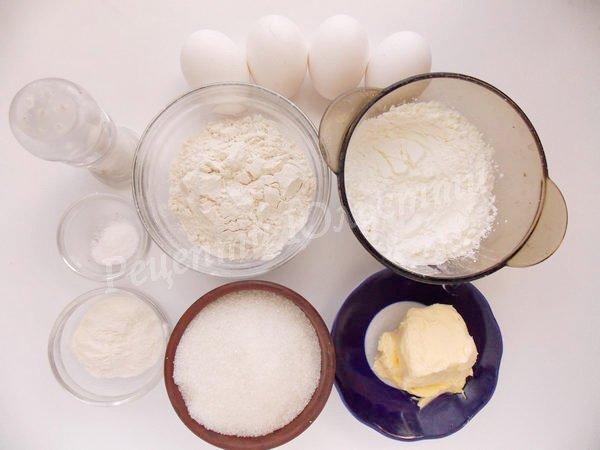 інгредієнти для бісквіту