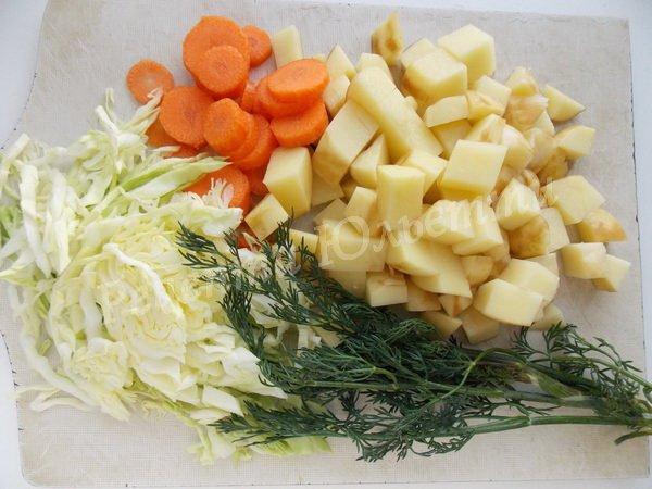 наріжемо овочі