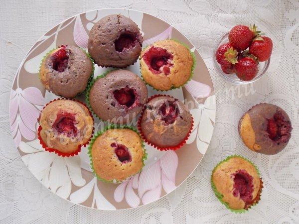 рецепт полуничних кексів