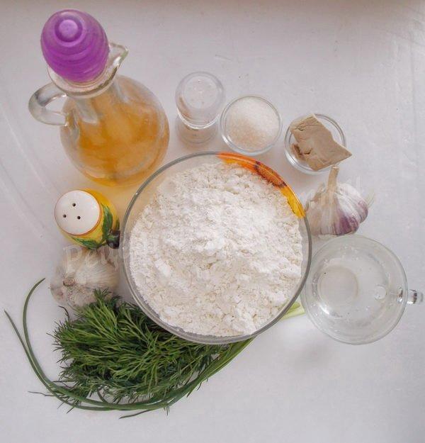 інгредієнти для пампушок