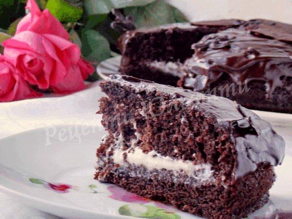 простий шоколадний торт