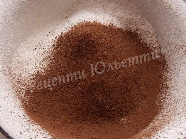 змішуємо сухі компоненти тіста