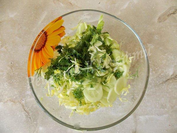 рецепт салату з молодої капусти