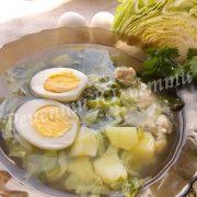 рецепт зеленого борщу з капустою