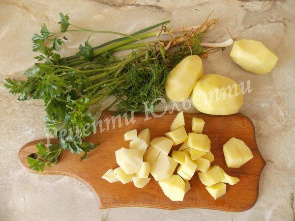 наріжемо картоплю