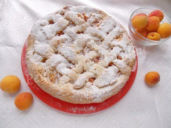 абрикосовий пиріг з пісочного тіста