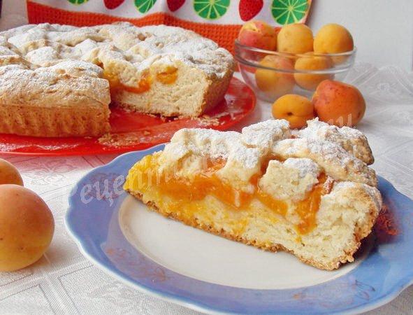 рецепт абрикосового пирога