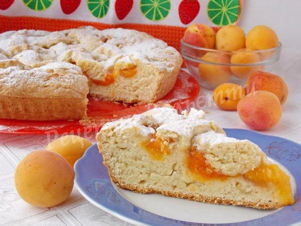 абрикосовий пиріг фото