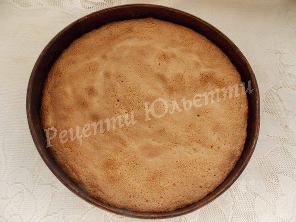випікаємо бісквітний пиріг