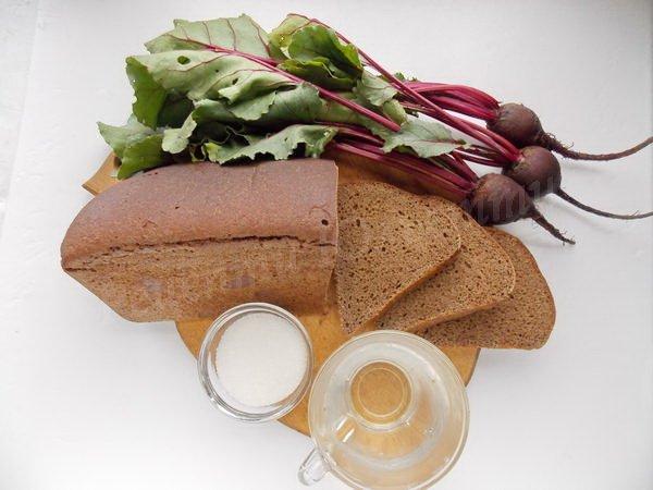 інгредієнти для бурякового квасу