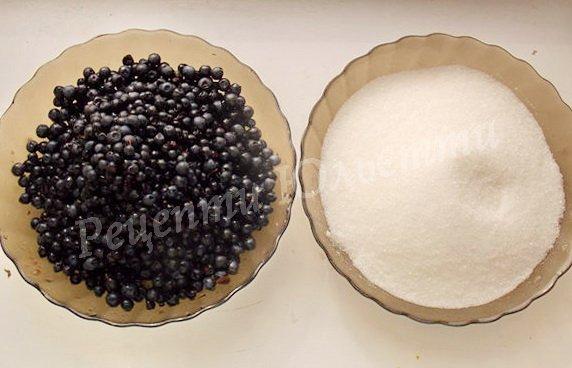 інгредієнти для чорничного варення