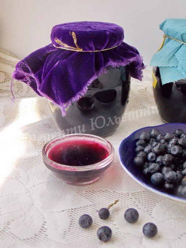 рецепт варення з чорниці