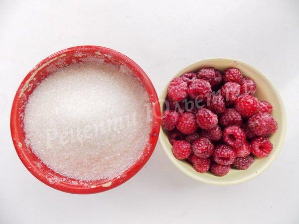 інгредієнти для малинового варення
