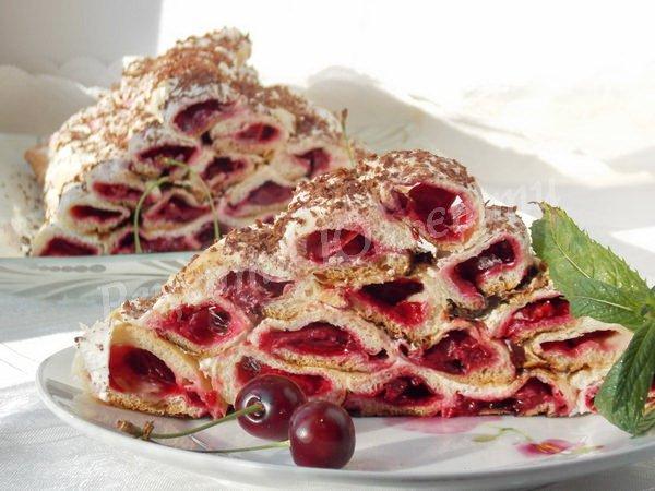 простий вишневий торт
