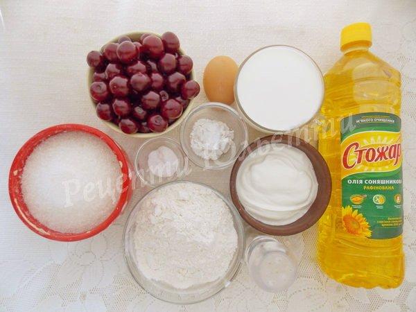 інгредієнти для вареників з вишнею