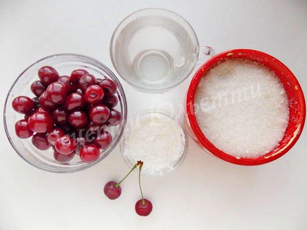 інгредієнти для вишневого киселю
