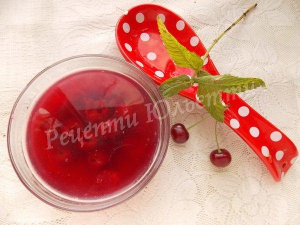 рецепт вишневого киселю