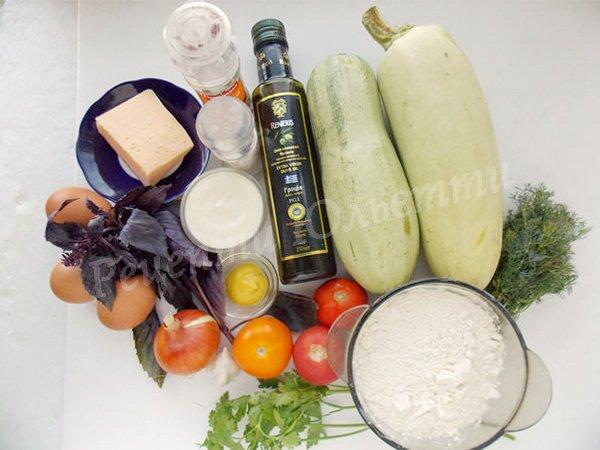 інгредієнти для кабачкового торту