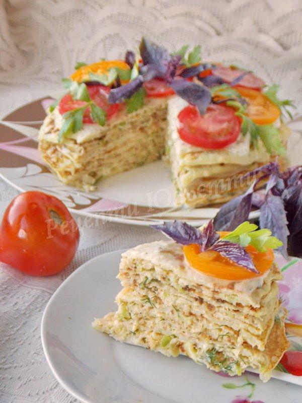 кабачковий торт із сиром