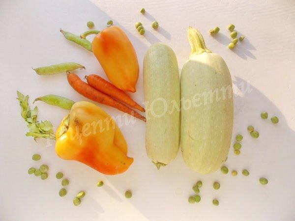 інгредієнти для овочевої суміші
