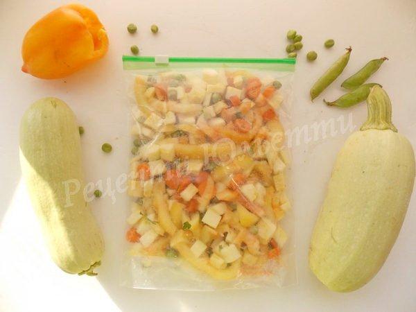 заморожена овочева суміш