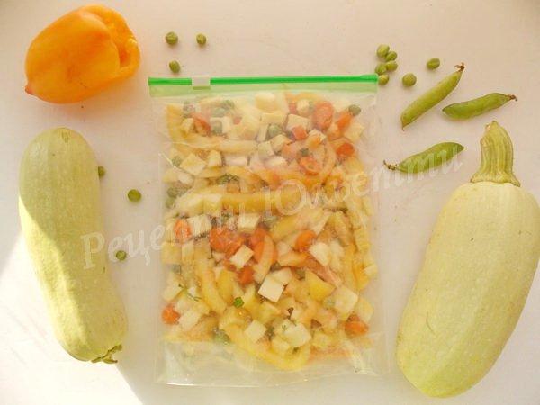 як приготувати овочеву суміш для рису