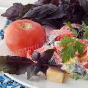 рецепт салату з базиліком