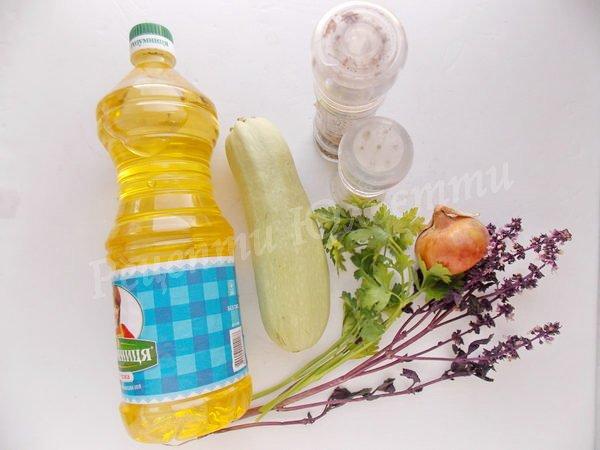 інгредієнти для страви з кабачка