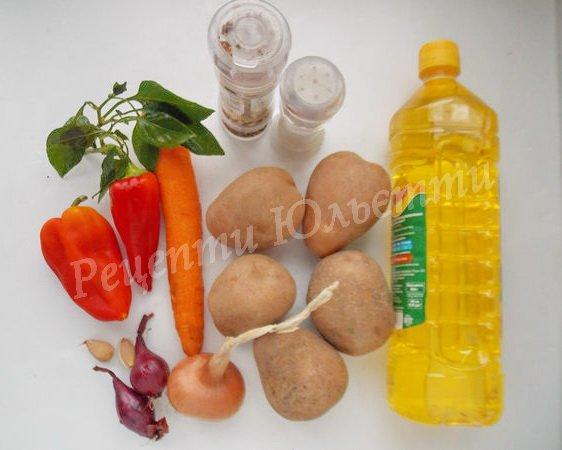 інгредієнти для осінньої пательні