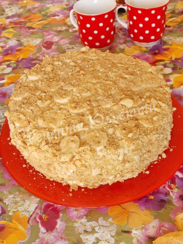 медовий торт зі сметанним кремом