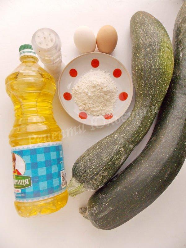 інгредієнти для смажених цукіні