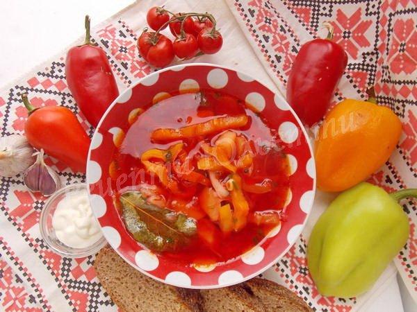 рецепт борщу із болгарським перцем