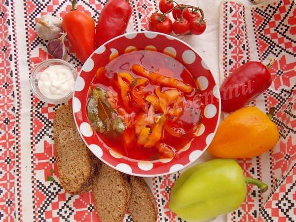 смачний український борщ