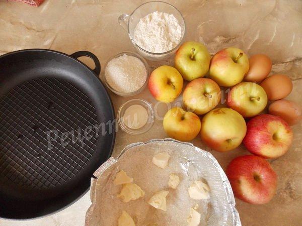 інгредієнти для яблучного пирога