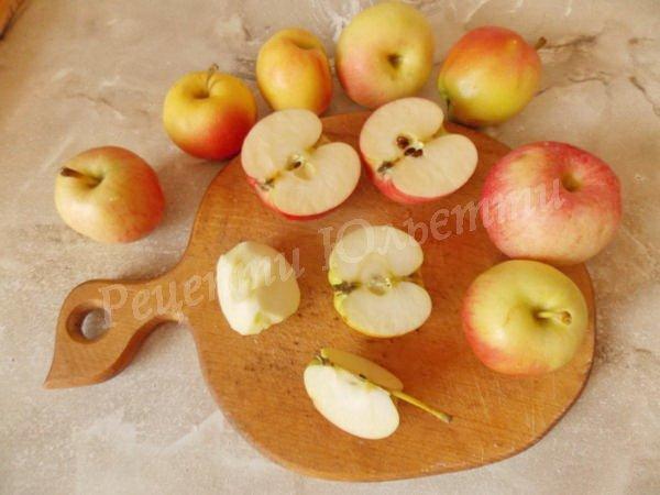 очищуємо яблука