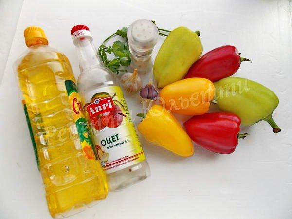 інгредієнти для перцю з часниковою підливкою