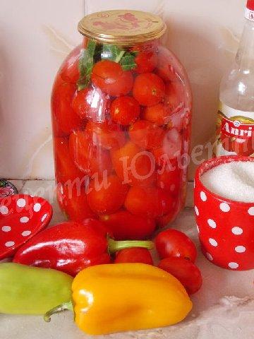 солодкі мариновані помідори
