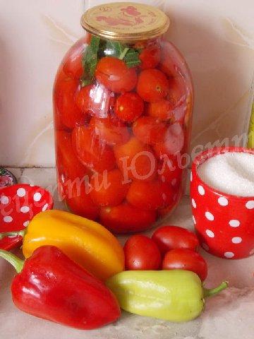 рецепт солодких маринованих помідорів