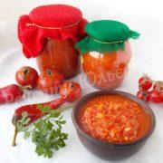 аджика з помідорів та перцю