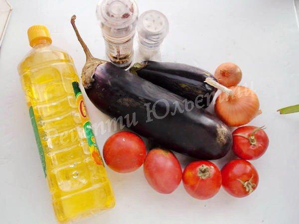 інгредієнти для ікри з баклажанів