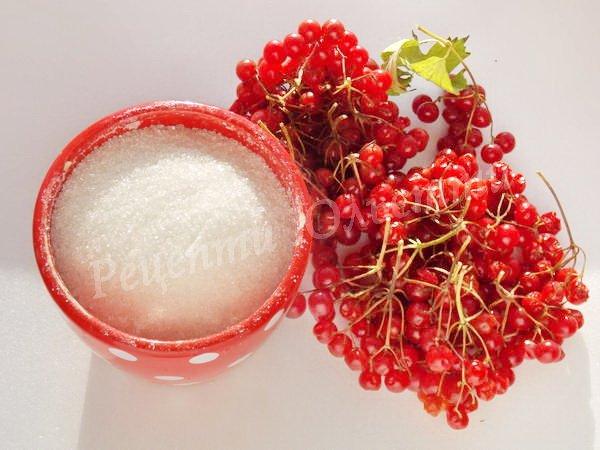 інгредієнти для калини з цукром