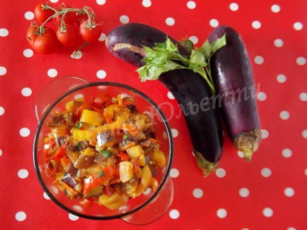 рецепт рагу з баклажанів