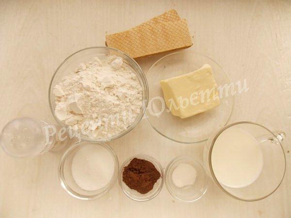 інгредієнти для печива каштани
