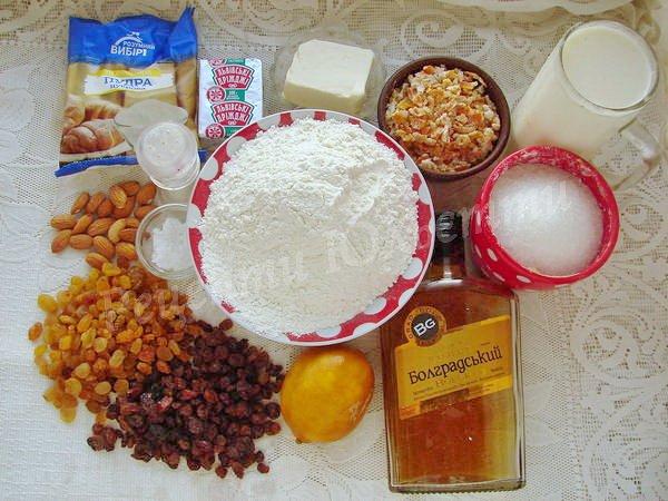 інгредієнти для штоллена