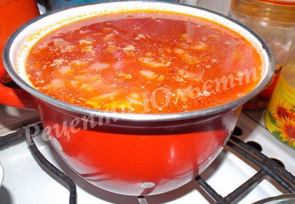 приготування борщу