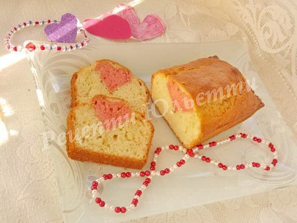 смачний кекс серце
