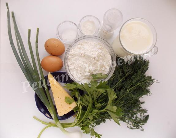 інредієнти для млинців із сиром